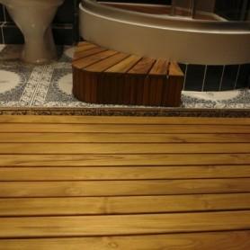 Террасная доска Brand Wood Тик Натуральный (желтый)