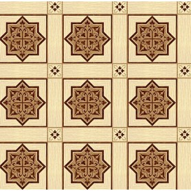 Паркет художественный геометрический с инкрустацией SWX 1393А
