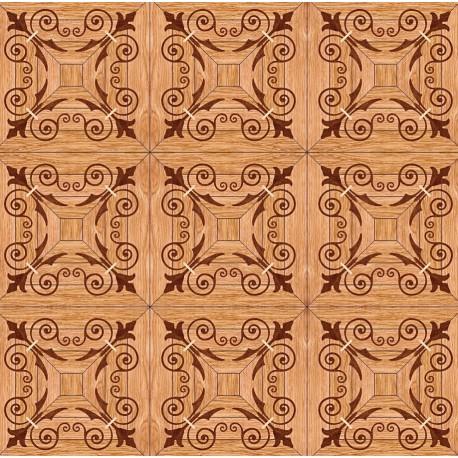 Паркет художественный геометрический с инкрустацией SWX 1396