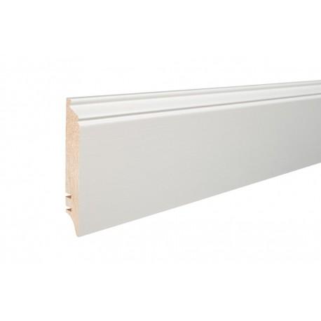 Плинтус Белый окрашеный 90мм х 16мм х 2200мм