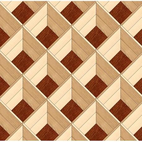 Паркет художественный геометрический SWX 13