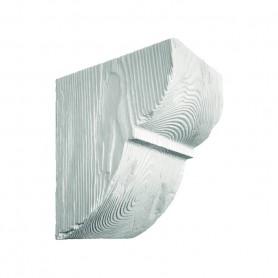 Декоративная консоль Модерн ED 015 classic белая 19х17см