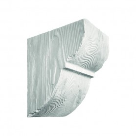 Декоративная консоль Рустик EQ 015 classic белая 19х17см