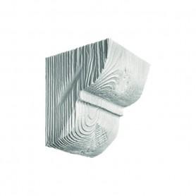 Декоративная консоль Рустик EQ 016 classic белая 12х12см