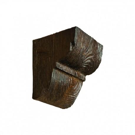 Декоративная консоль Рустик EQ 016 classic темная 12х12см