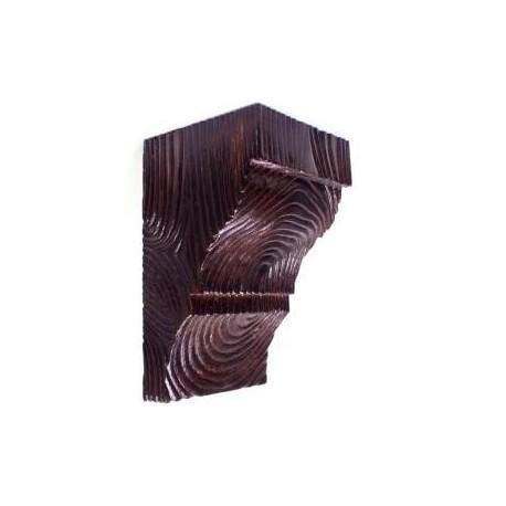 Декоративная консоль Рустик EQ 036 classic темная 12х12см