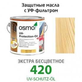 Защитное масло Osmo с УФ-фильтром UV-SCHUTZ-ÖL, БЕСЦВЕТНОЕ 420, 2,5л